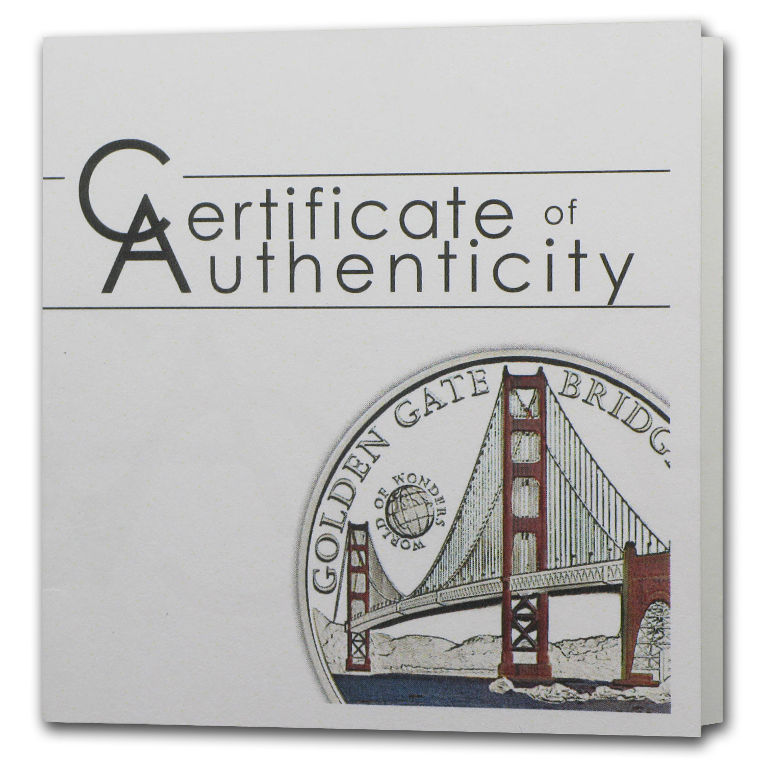2013 Palau Proof Silver World of Wonders Golden Gate Bridge